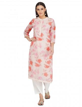 Light pink designer cotton festive events punjabi style pant suit