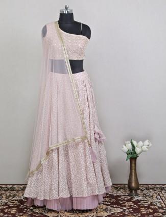 Light pink wedding wear exclusive lehenga choli