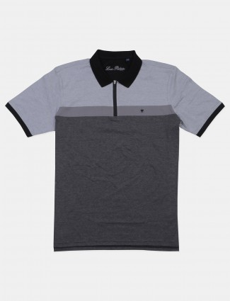 Louis philippe solid style grey shade t-shirt for mens