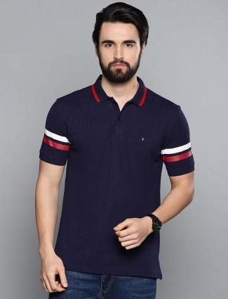 LP casual wear dark navy hue t-shirt