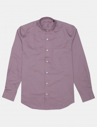 LP presented solid onion pink casual shirt