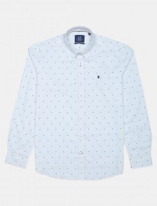 LP printed cotton shirt in white