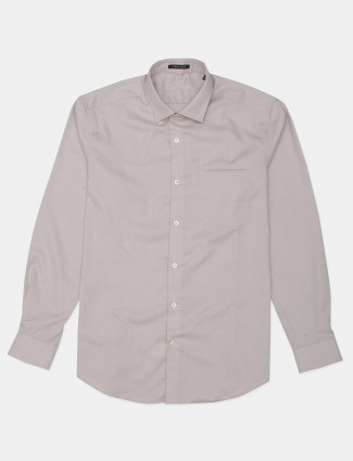 LP solid style cotton shirt in beige hue