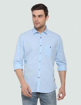 LP Sport light blue printed shirt