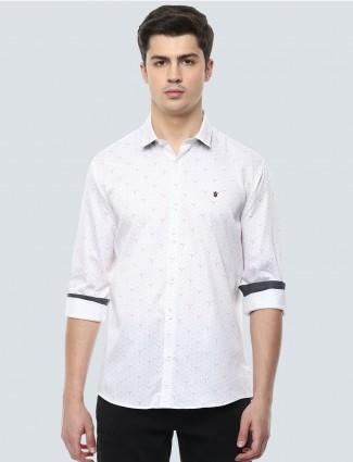 LP Sport printed white mens shirt