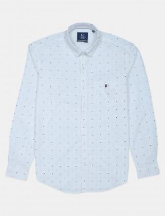 LP white printed cotton shirt