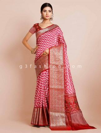 Magenta patola saree for wedding