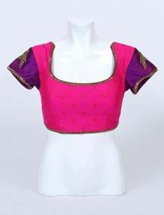 Magenta readymade blouse for women