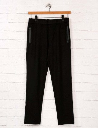 Maml black soft cotton track pant