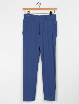 Maml blue cotton night wear track pant
