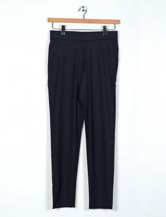 Maml solid black color men track pant