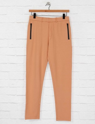 Maml solid peach hued track pant