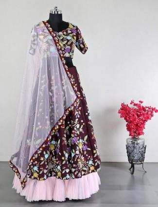 Maroon wedding lehenga for women