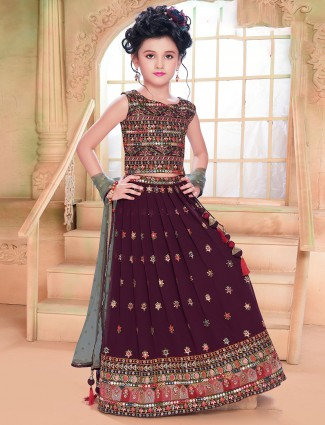 Maroon wedding special designer lehenga choli