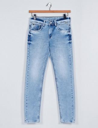 MD Sword light blue washed mens denim jeans