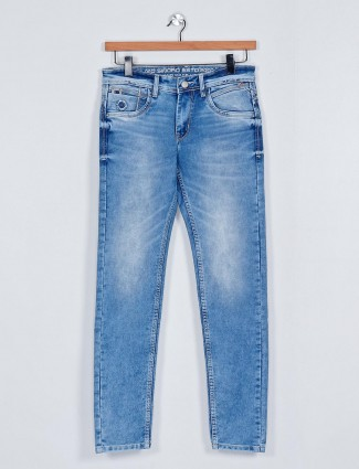 MD Sword washed blue casual jeans