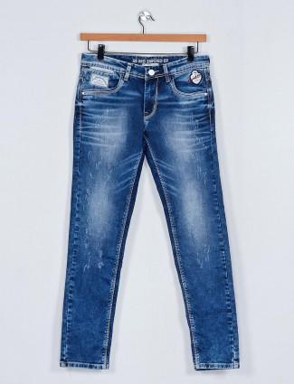 MD Sword washed blue mens jeans