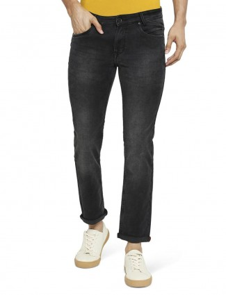 Mufti slim fit washed black jeans