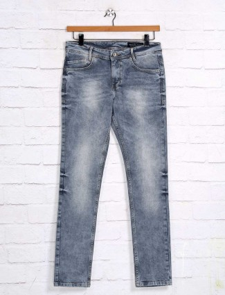 Mufti washed grey skinny fit jeans