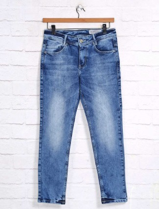 Mufti washed slim fit blue jeans