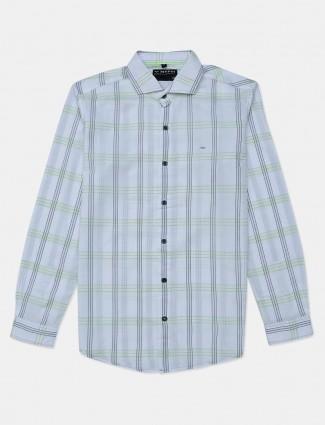 Mufti white cotton cotton mens shirt