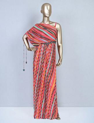 Multi colour georgette wedding gown