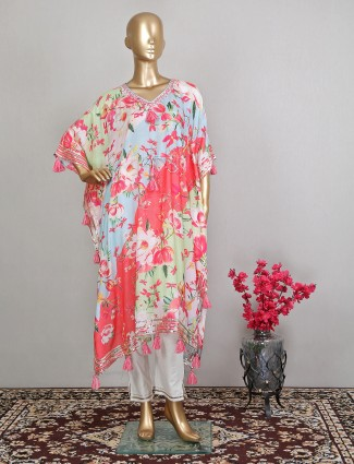 Multi printed cotton pant suit for women