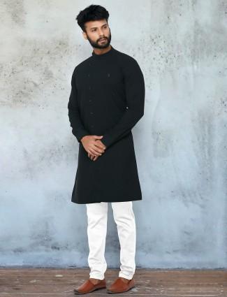 Navy shade festive wear kurta with chudidar