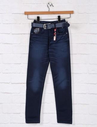 Navy washed denim jeans for boys