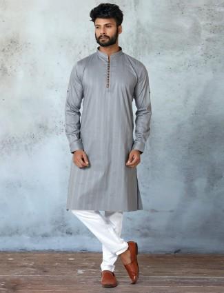 New grey shade kurta with churidar
