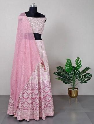 New pink wedding wear lehenga choli