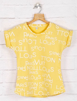 No Doubt printed yellow casual top