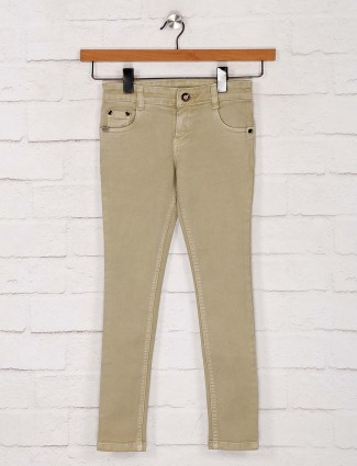 No Fear khaki solid skinny fit jeans