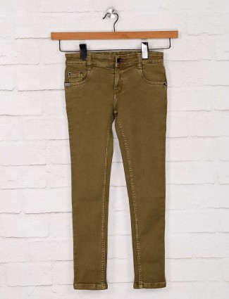 No Fear solid olive girls jeans
