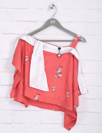 Nodoubt peach cotton casual top