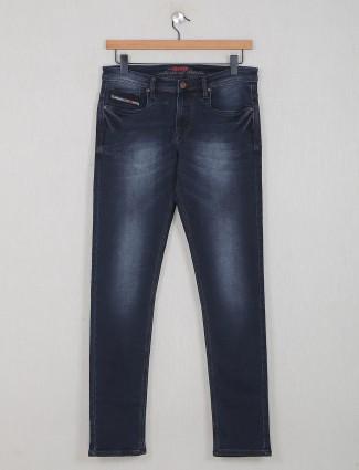 Nostrum black slim fit casual jeans