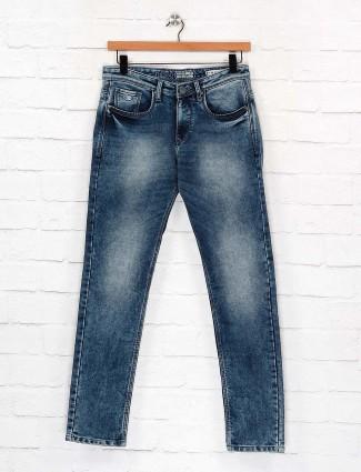 Nostrum slim fit washed blue color jeans