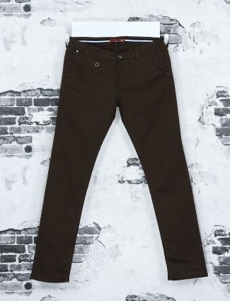 Nostrum solid brown hue jeans