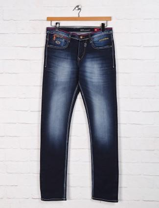 Nostrum washed navy mens jeans