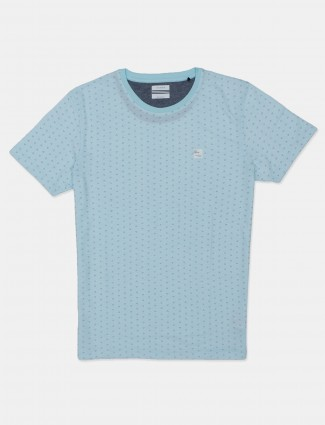 Octave presented printed blue t-shirt