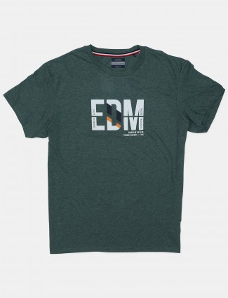 Octave printed green casual t-shirt