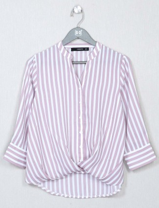 Onion pink casual top in cotton