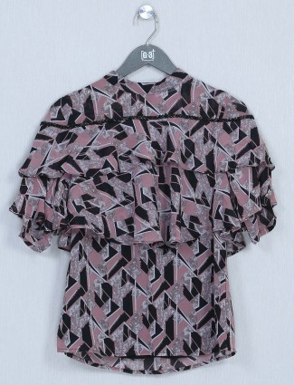 Onion pink cotton casual top for women