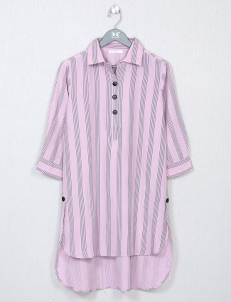 Onion pink stripe style top in cotton