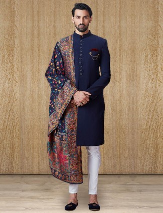 Party wear indo western for men in navy