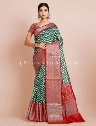 Patola green lovely wedding saree