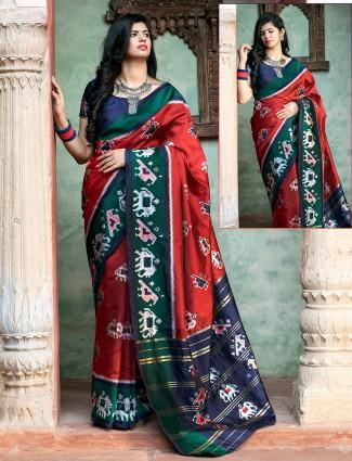 Patola silk saree wedding sessions red traditional saree