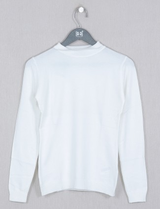 Deal peace white casual style knitted top