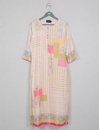 Peach attractive cotton kurti for casual wear