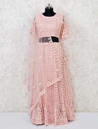 Pink designer marriage funtion lehenga choli